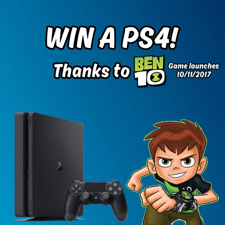 WIN a PS4 thanks to the all new Ben 10 game! Simply follow Everybody Plays, and re-pin this pin to enter!