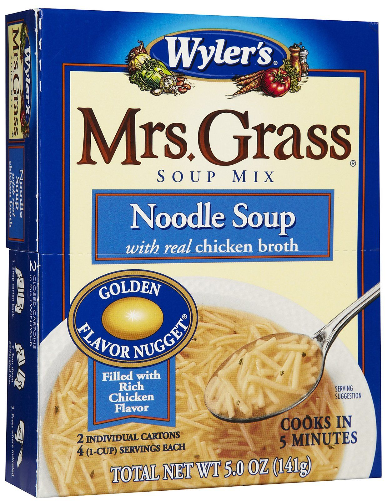 Mrs. Grass chicken noodle soup is yummy if you are feeling