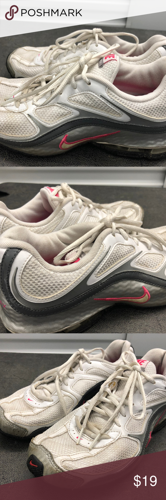 63dfc2c0d9cb0 Nike Reax Run 5 Women Silver Pink White Sneakers Nike Reax Run 5 407987-116  Women Silver Pink White Training Running Sneakers Size US 7.5 are good  condition ...