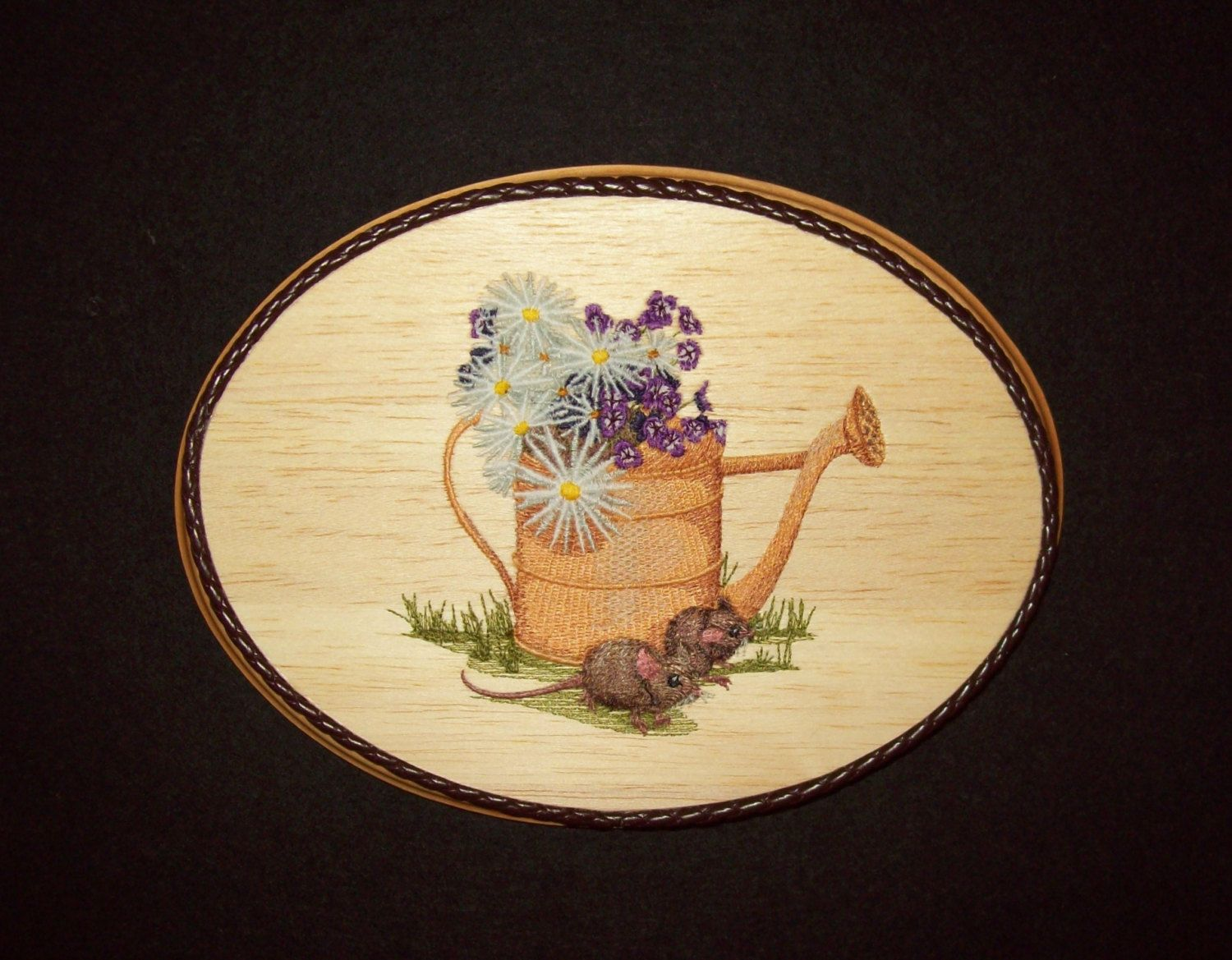Trending Mother\'s Day Gift, Watering Can, Garden Scene, Embroidery ...