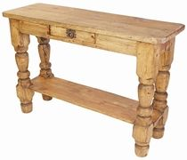 Cool Mexican Rustic Pine Turned Leg Sofa Table With Drawer Home Machost Co Dining Chair Design Ideas Machostcouk