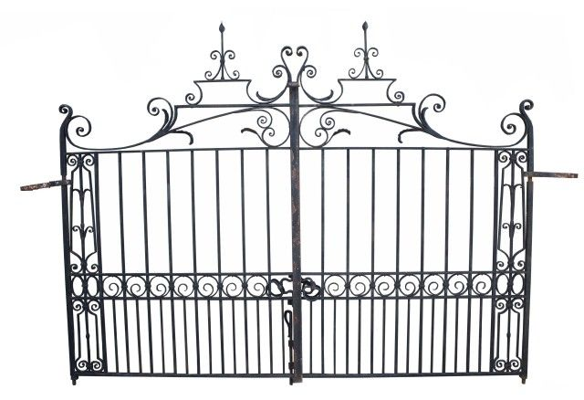 Pair Of Early 20th Century Wrought Iron Driveway Gates Uk