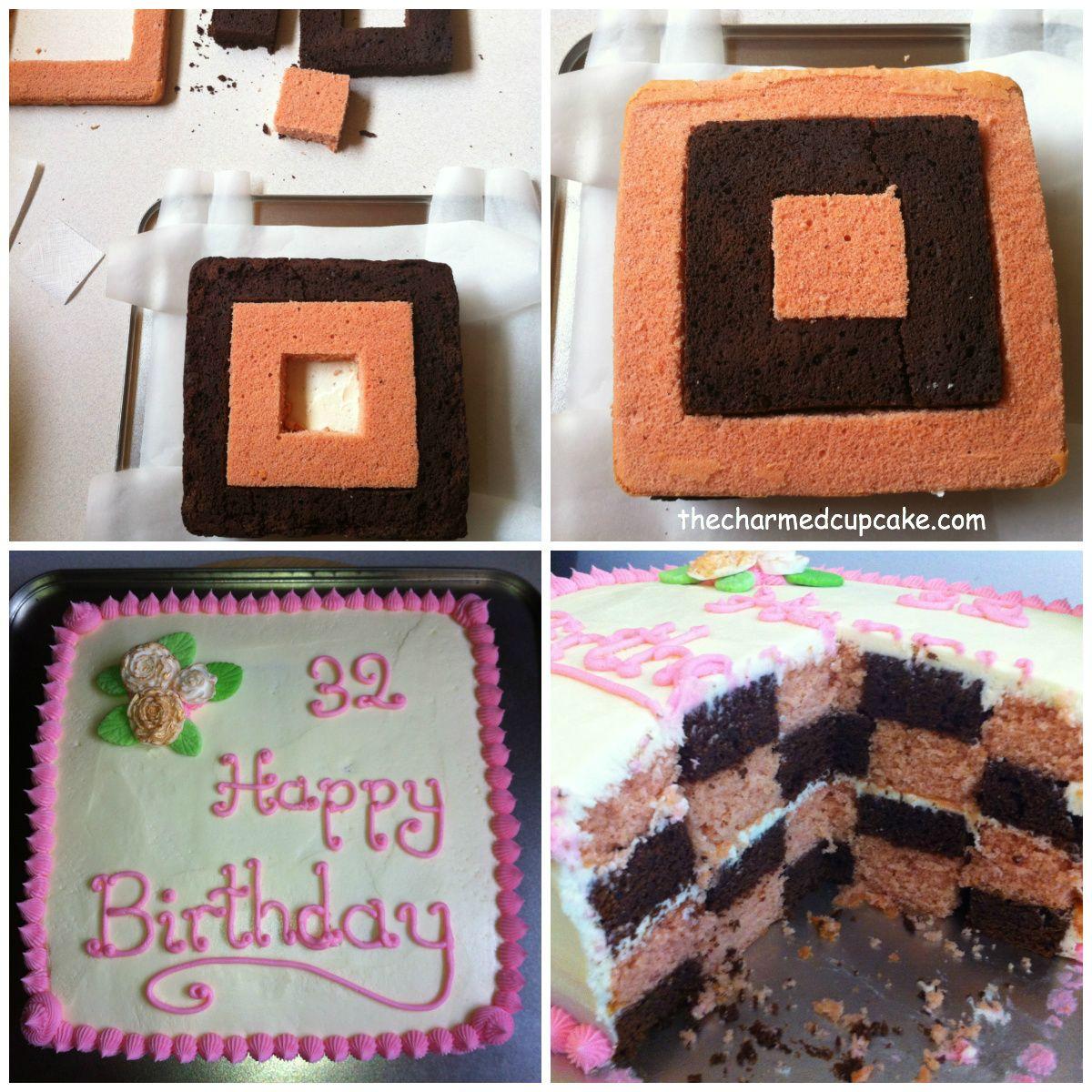 Practice Checkered Cake