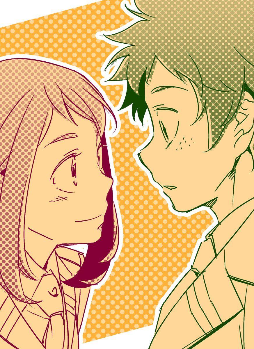 Characters: Uraraka Ochako, Midoriya Izuku | My Hero ...