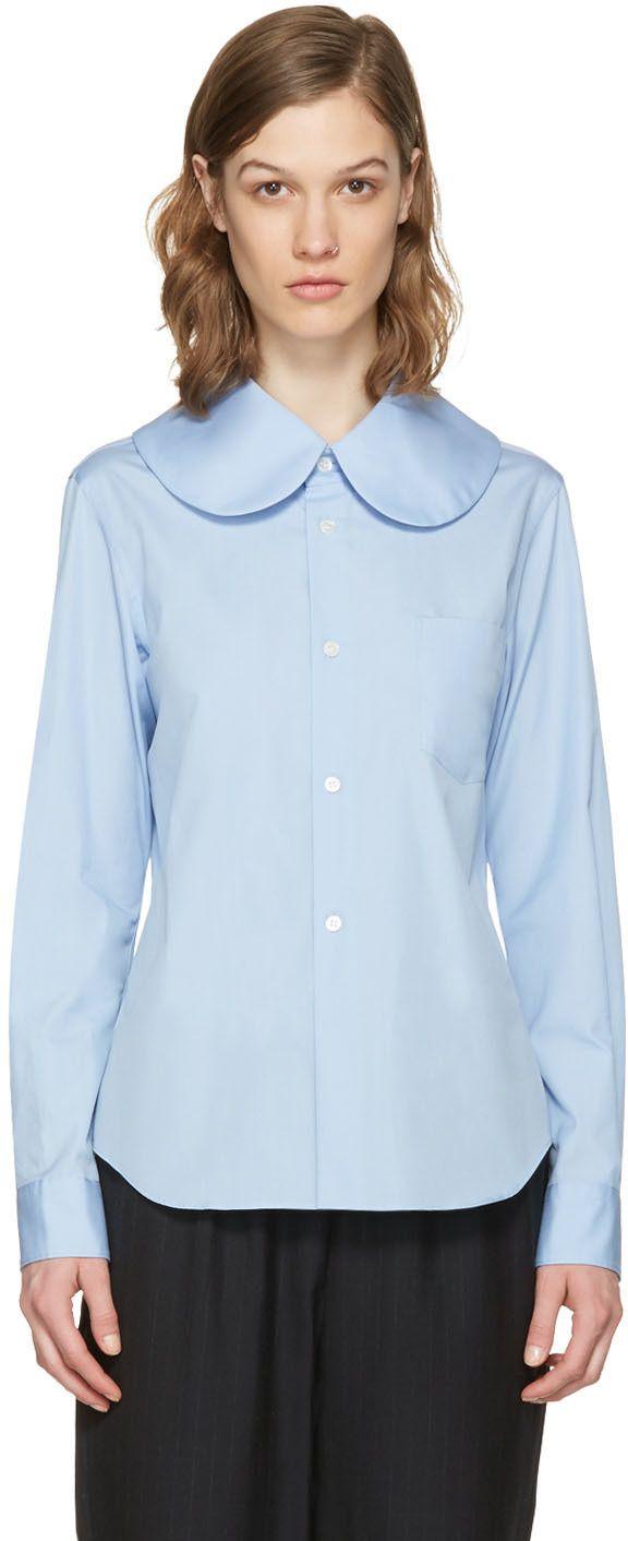 0360eaad COMME DES GARCONS GIRL Blue Oversized Collar Shirt. #commedesgarconsgirl  #cloth #shirt