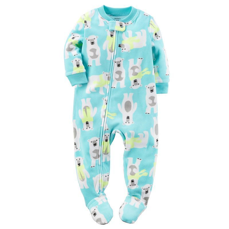 6fc6b4c092d7 Baby Boy Carter s Winter Printed Fleece Footed Pajamas