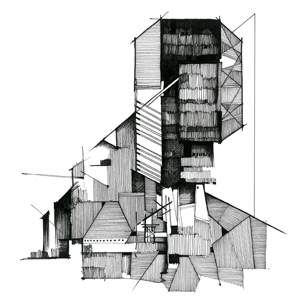 Architecture Drawing Techniques http://www.kylehenderson.co.uk/tagged/inevitablefolly | sketchy