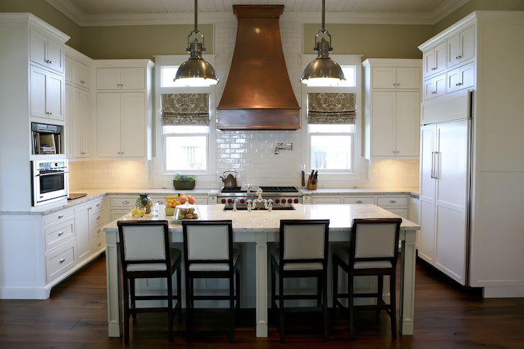 Urban Grace Interiors Kitchens Large Country Pendant Copper Range Hood
