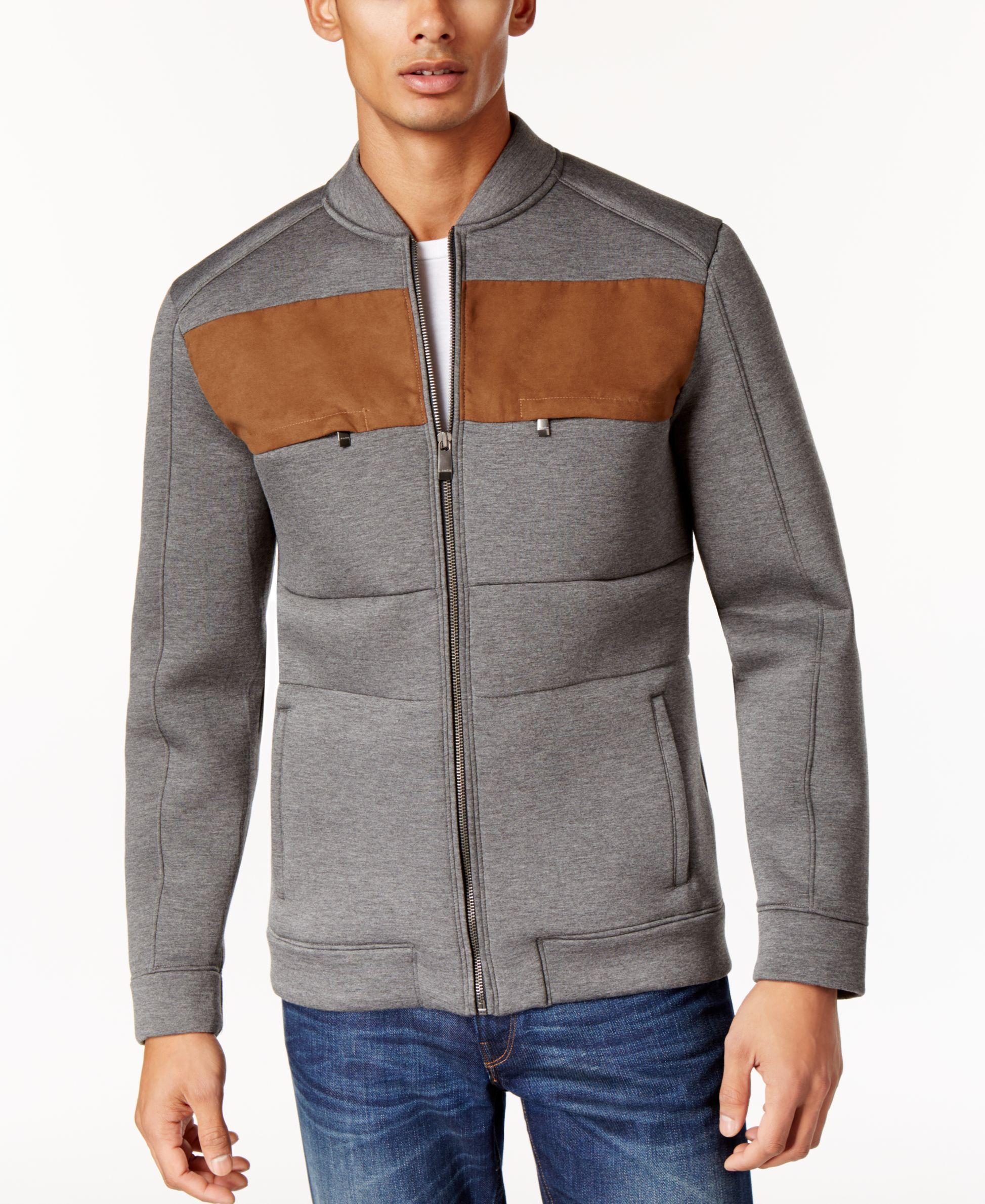 Calvin Klein Men S Neoprene Bomber Jacket Mens Jackets Jackets Calvin Klein Men [ 2378 x 1947 Pixel ]
