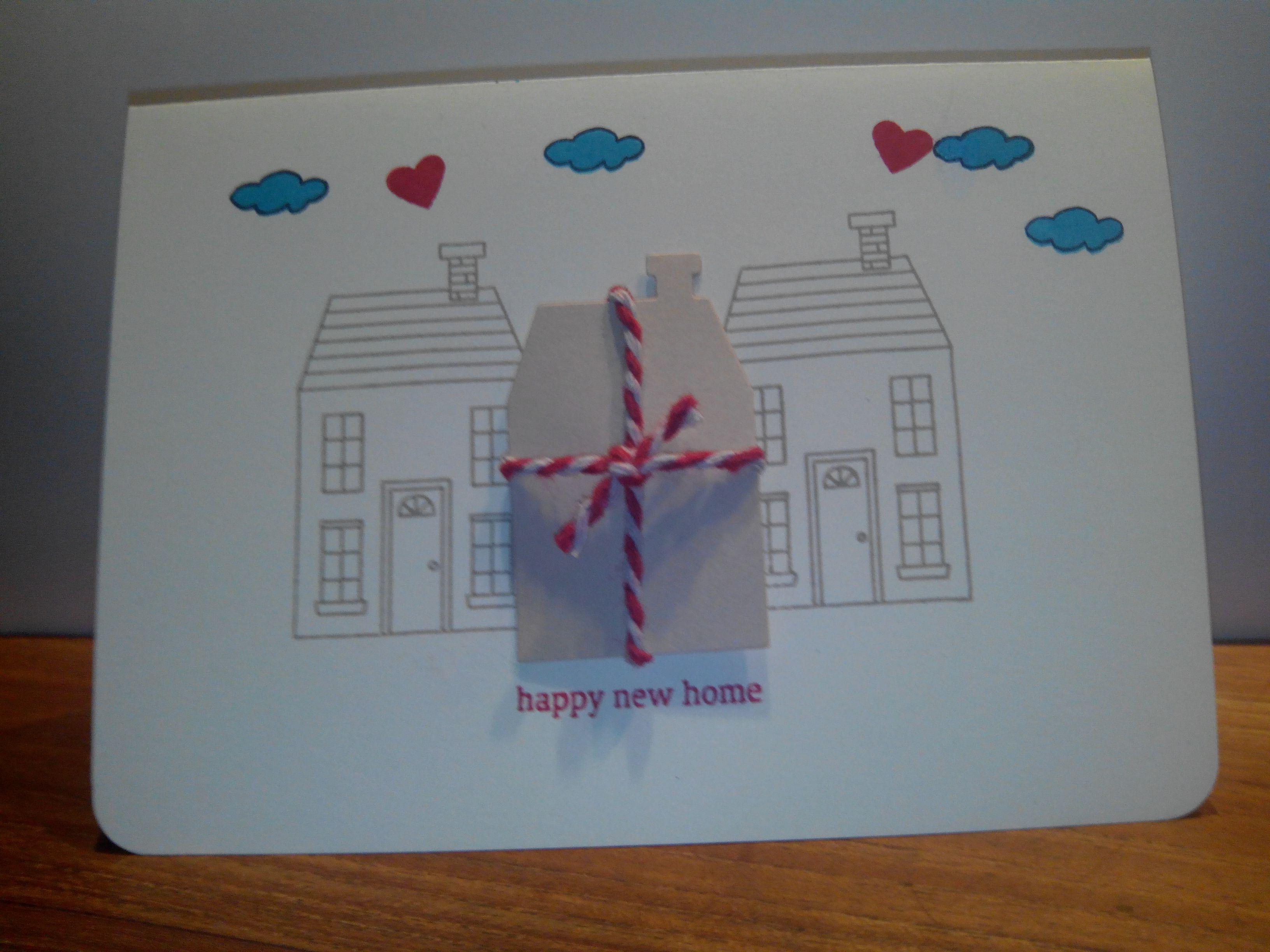 leuke kaart voor iemand die een nieuw huisje krijgt met het stampinup stempelset Holiday Home Photopolymer Stamp Set in de hoofdrol. voor meer info: http://stampfromjessica.wordpress.com/2014/11/06/happy-new-home/