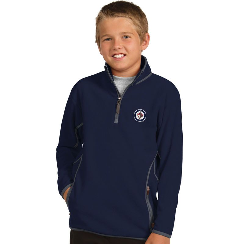 Winnipeg Jets Antigua Youth Ice 1/4 Zip Fleece Pullover Jacket ...
