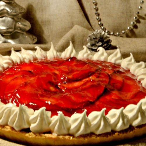 Get It Cooked: Apple tart with a cherry topping