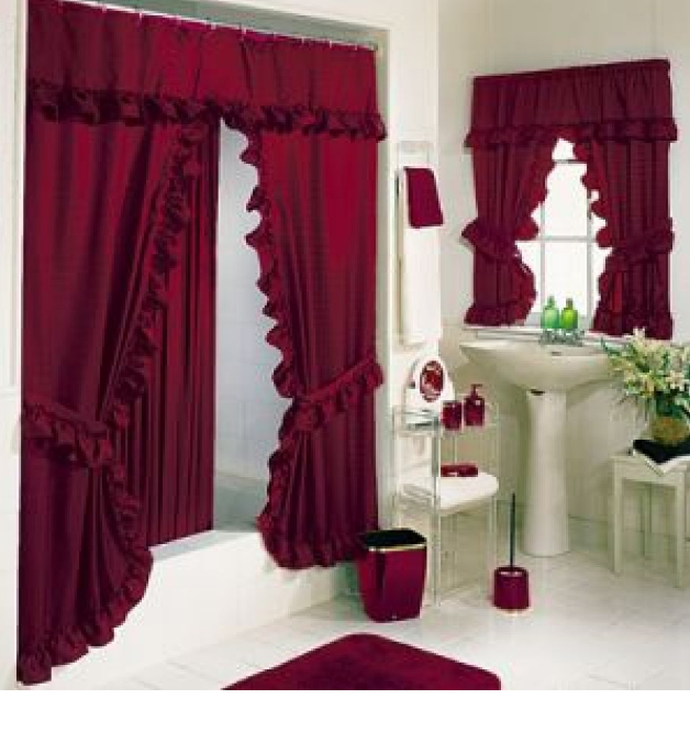 Double Swag Shower Curtain Set : Best shower curtain ideas | Best ...