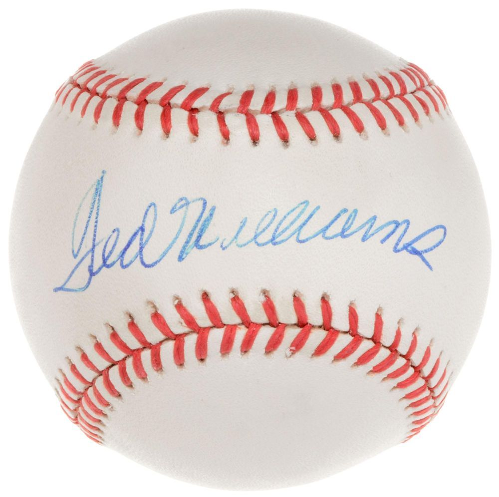 67b6db1b64d Ted Williams Red Sox Signed Baseball - Graded 7 - PSA DNA