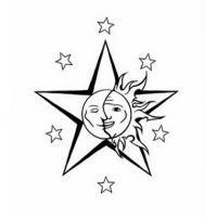Leggi Tutto Tatuaggio Stella Con Sole Luna Tatuaggio Celeste