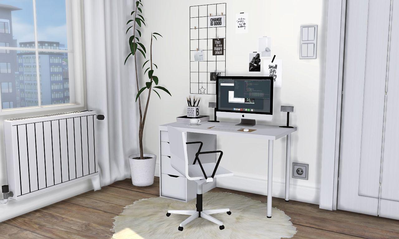 Mxims mono workstation ikea linnmon alex desk vitra 04 sims 4