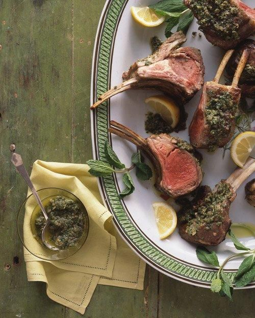 Easter Main Dishes // Rack of Lamb with Mint and Capers Recipe