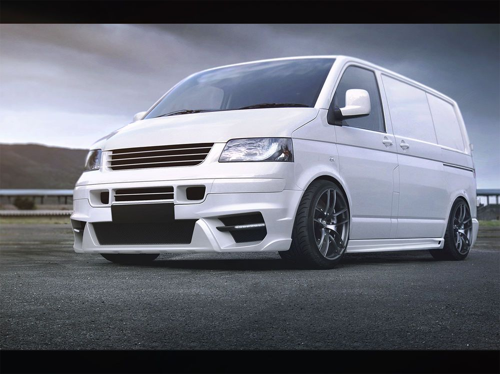 vw t5 body kit sto stange tuning spoiler set front heck. Black Bedroom Furniture Sets. Home Design Ideas