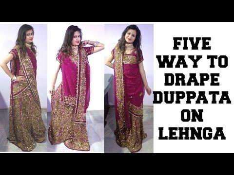 8c5e64ffa5ced 5 Different way to drape Duppata on Lehnga..