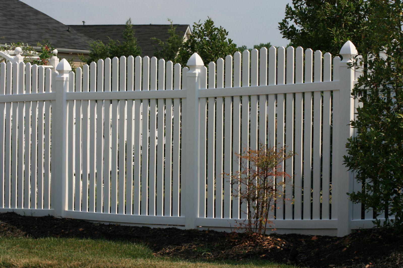 Vinyl fence pvc fence 5 arched picket gastonia fencing vinyl fence pvc fence 5 arched picket gastonia baanklon Images
