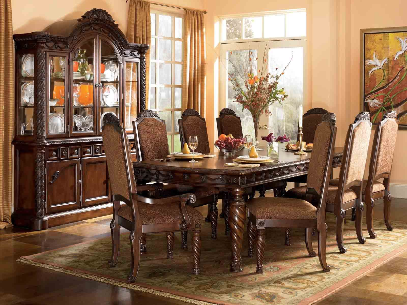 North Shore 7 Pc Rectangular Leg Extension Table Set Dining Room