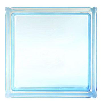 Brique De Verre Standard Lisse Brillante Bleu Atoll N 5 Brique Verre Et Salle De Douche