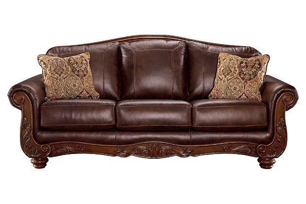 Walnut Mellwood Sofa View 2 In 2019 Ashley Furniture Sofas