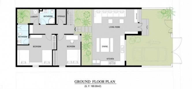 A Fresh Home With Open Living Area Internal Courtyard House Floor Plans Floor Plans Modern House Plans