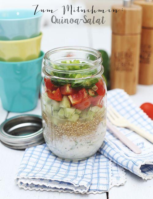 ( Puppenzimmer ): Zum Mitnehmen bitte! ~ Quinoa mit Gurke & Tomate