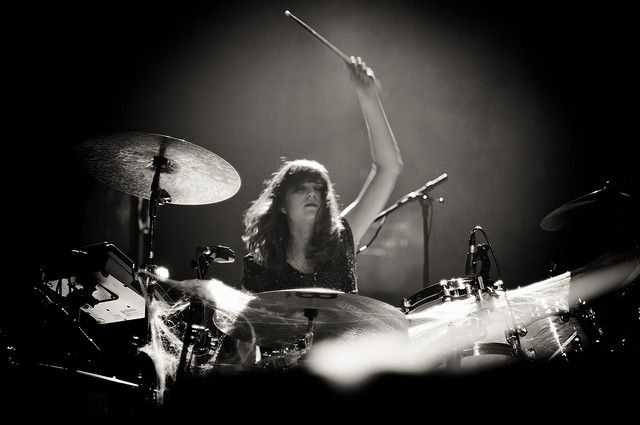 Sarah Jones, Bat for lashes and NYPC drummer | Flickr - Photo Sharing!