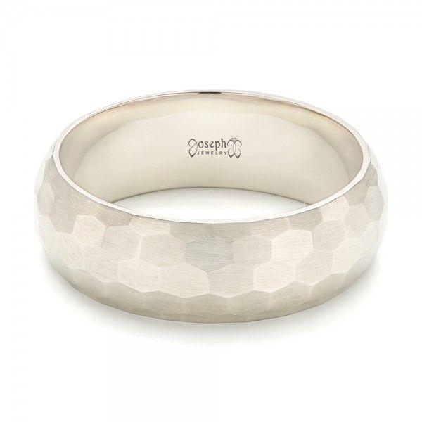 custom brushed mens wedding band joseph jewelry bellevue seattle online design