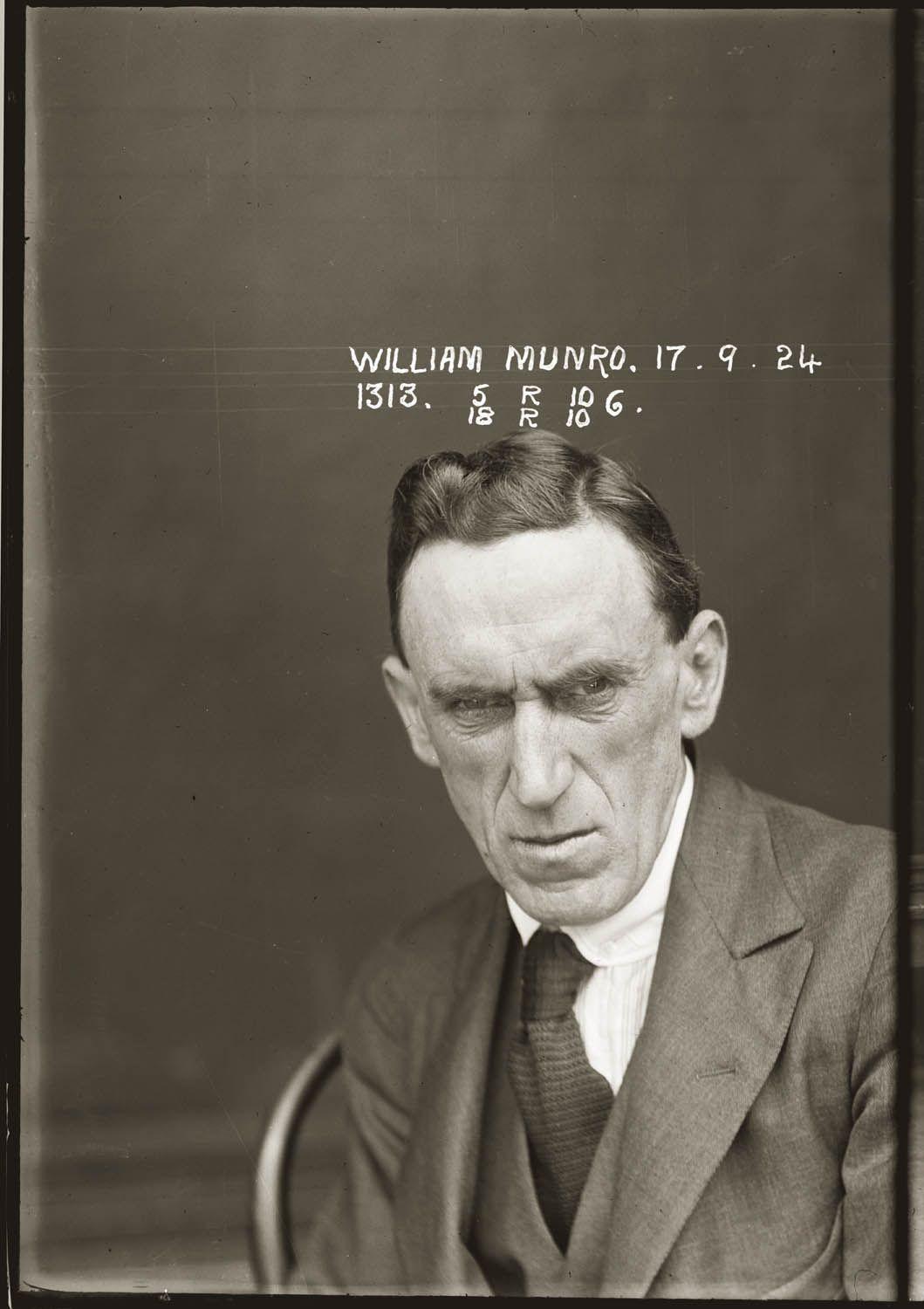The vintage mugshots of shoplifters bank robbers and murderers from - Munro Is Listed In The Nsw Police Gazette 1924 As Charged Along With Harris Hunter With Receiving Stolen Goods To The Value Of 536 Pounds 4 Shillings And