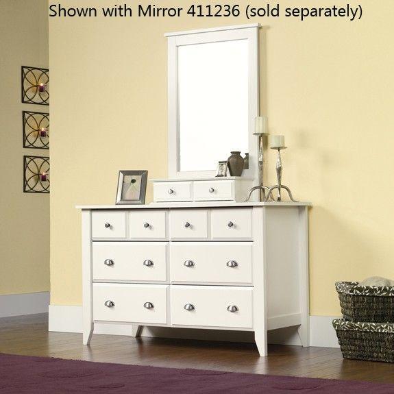 Shoal Creek Dresser Soft White - Sauder Furniture - 411201 - Dressers