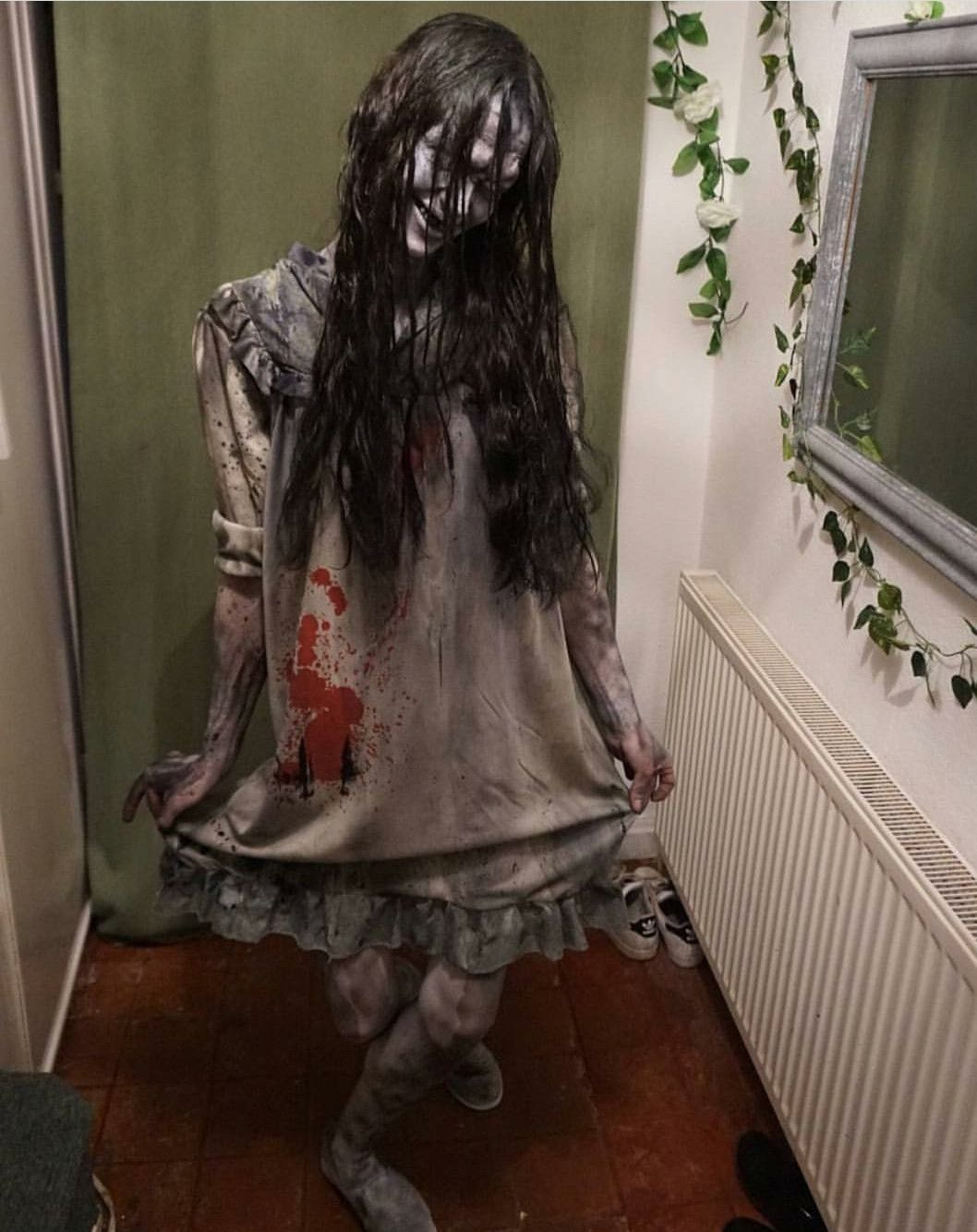 Creepy Girl With Manners With Images Creepy Halloween Costumes