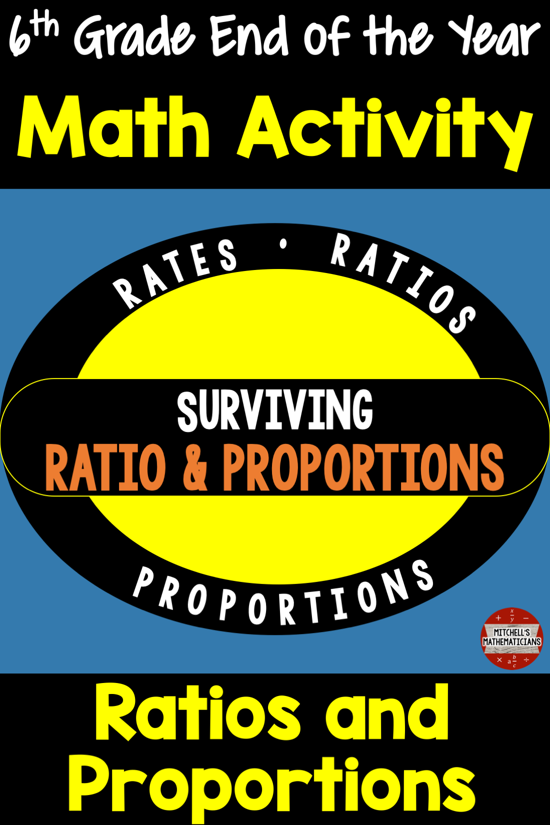 6th Grade Math End Of Year Review Activity Surviving
