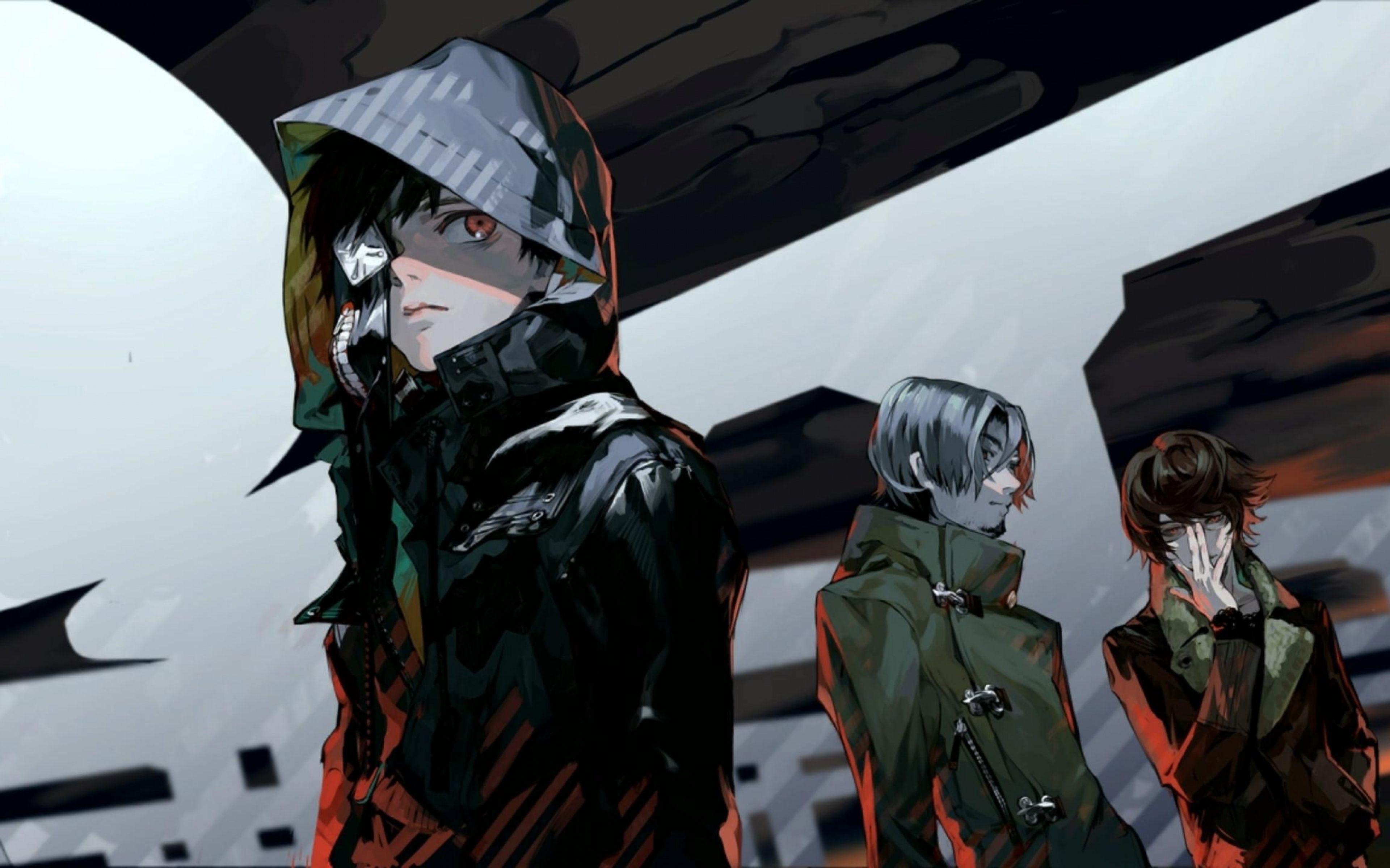 Download Wallpaper 3840x2400 Tokyo ghoul, Kaneki ken, Guys