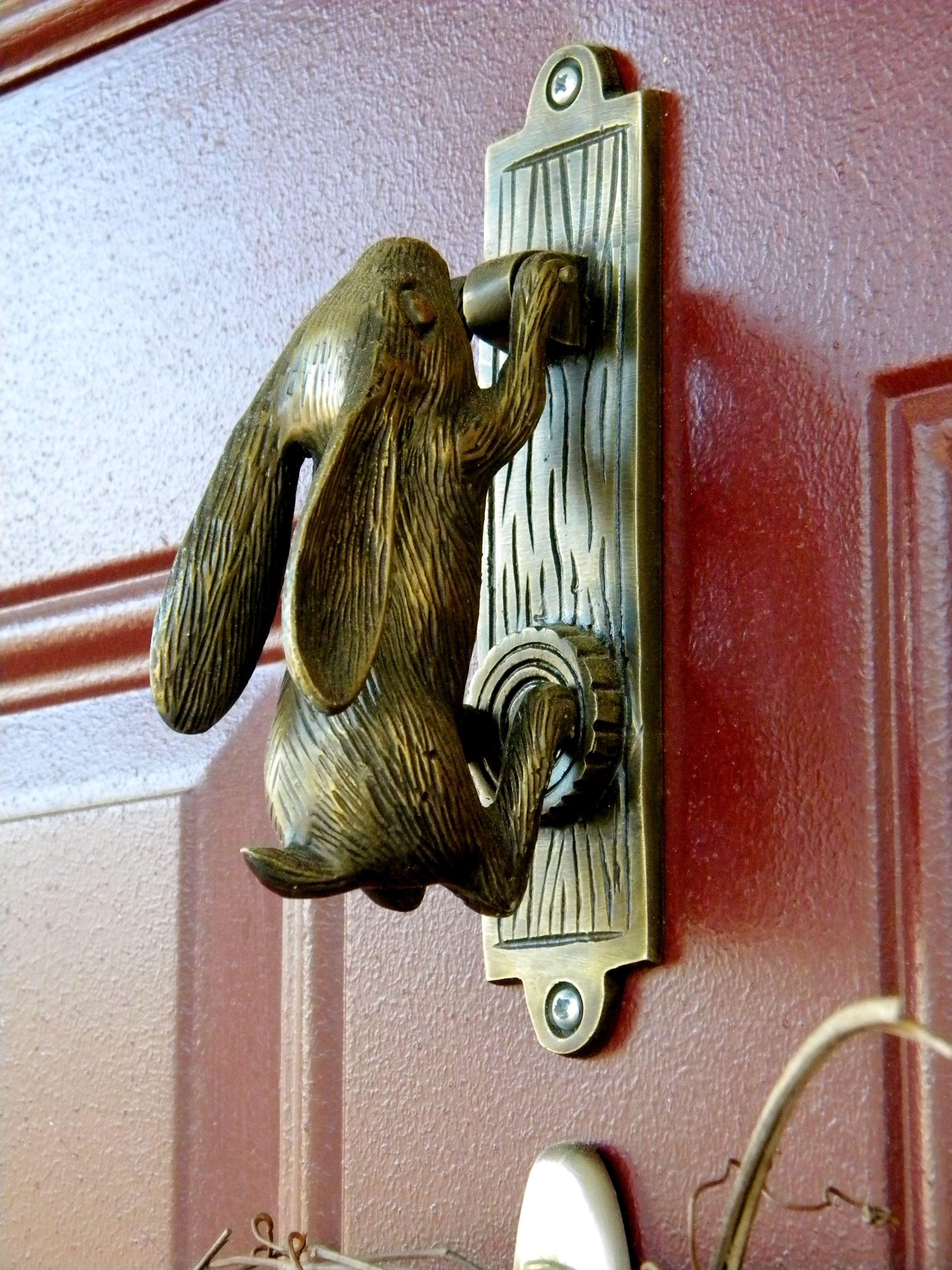 Bunny Door Knocker Door Latches Catches Knobs