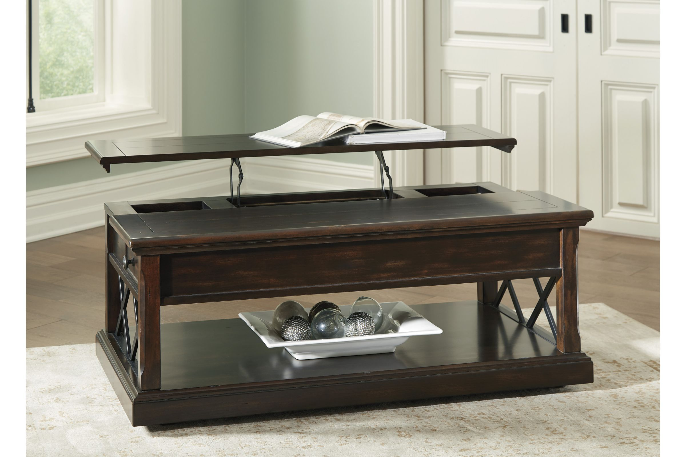 Roddinton Lift Top Cocktail Table By Ashley Table Lift Top