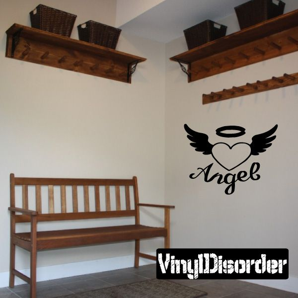 Angel Cross Wall Decal - Vinyl Decal - Car Decal - DC8308