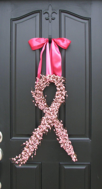 Wreath for #BreastCancer Awareness