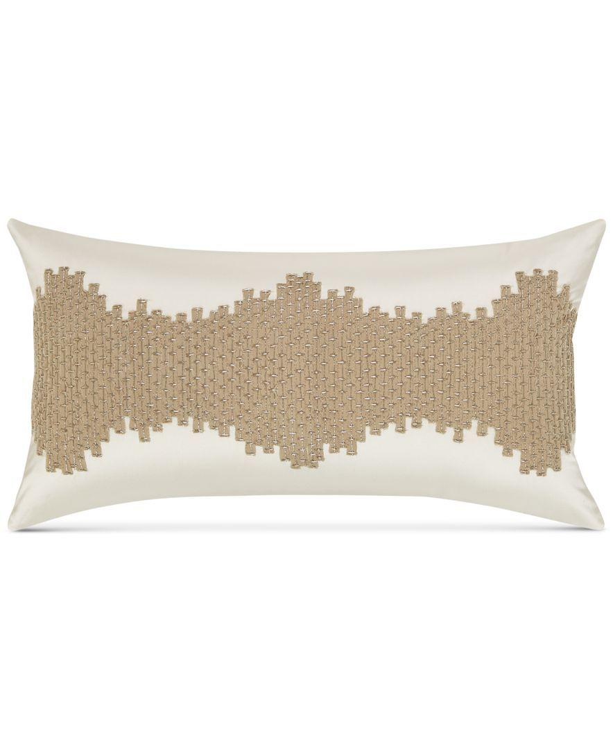 "Hotel Collection Distressed Chevron 16"" x 16"" Decorative Pillow ..."