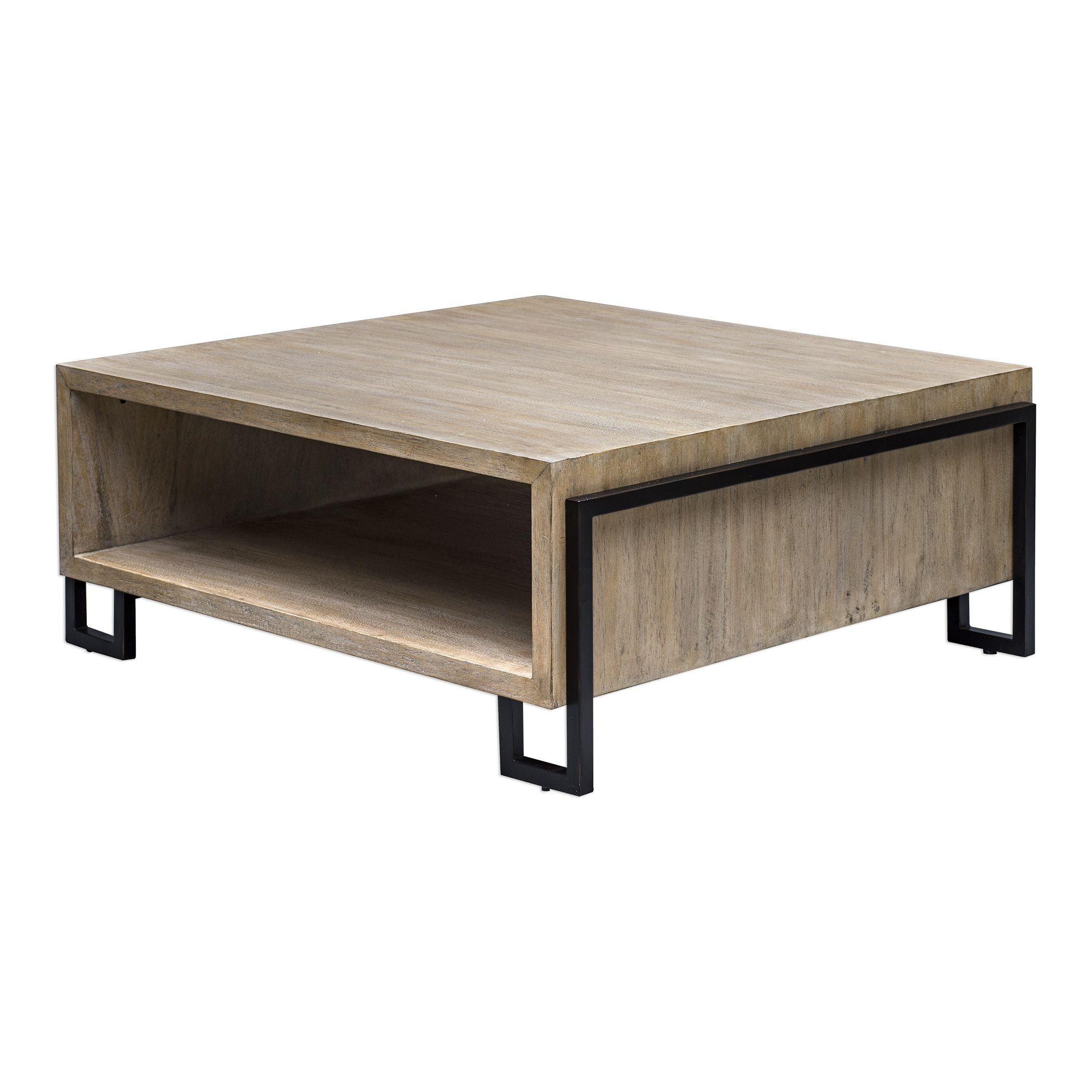 44 Kailor Modern Large Square Coffee Table In Iron Frame With Open Bottom Shelf Large Square Coffee Table Coffee Table Iron Frame Coffee Table [ 2100 x 2100 Pixel ]