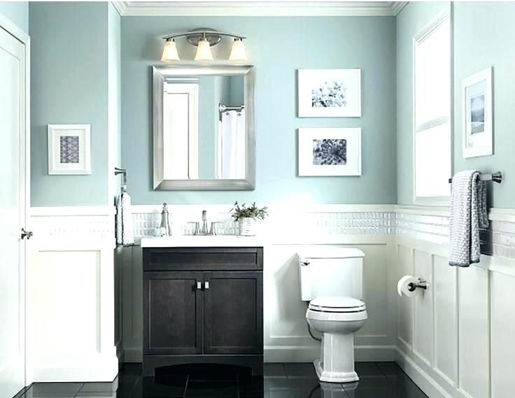 Infuse Color For Your Small Bathroom Wall Paint Color Ideas In 2020 Bathroom Wall Colors Gray Bathroom Walls Small Bathroom Colors