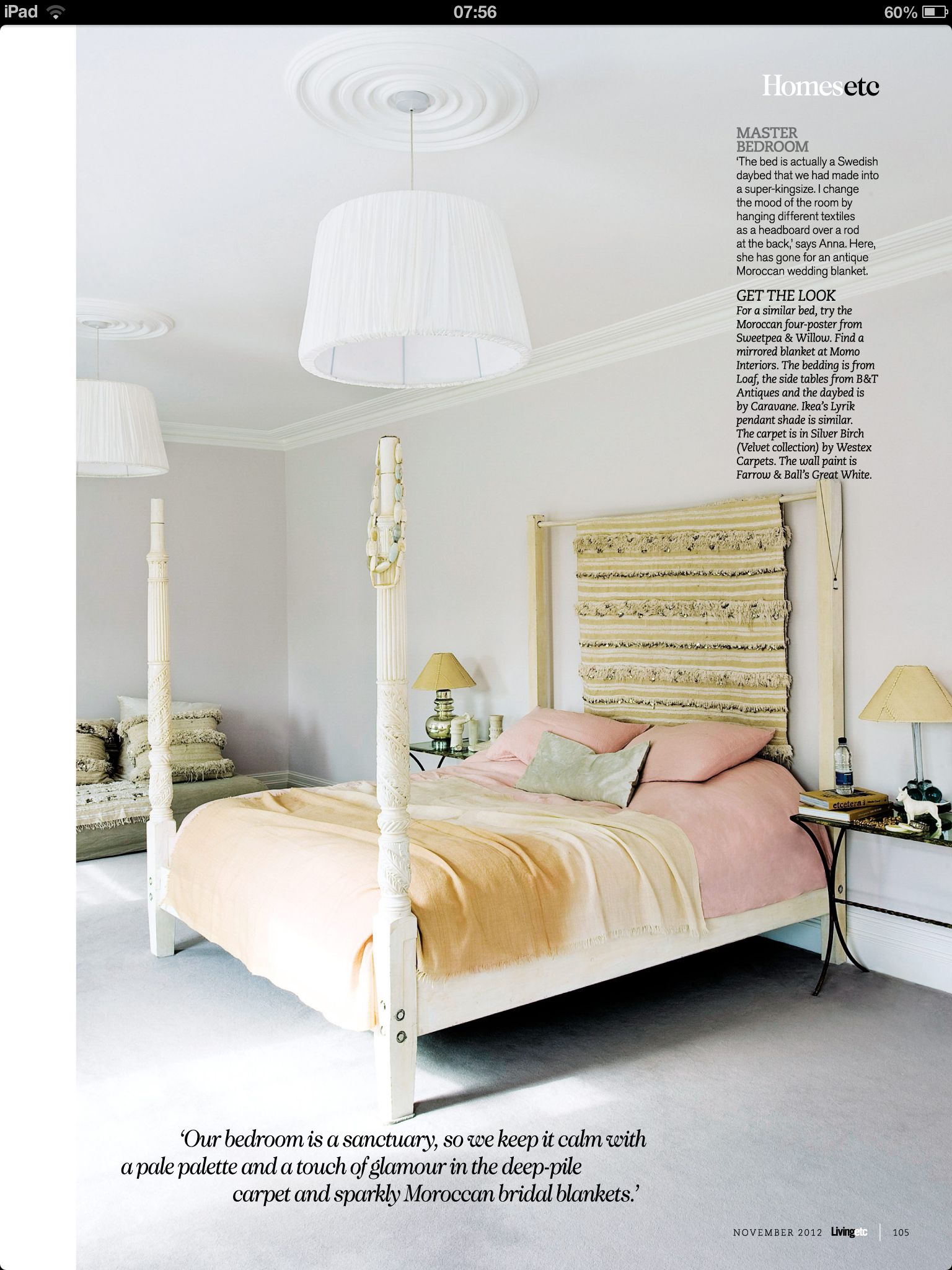 walls in great white farrow ball reno ideas and products pinterest farrow ball bed. Black Bedroom Furniture Sets. Home Design Ideas