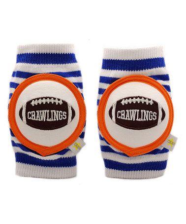 This Blue Stripe Football Kneepads is perfect! #zulilyfinds