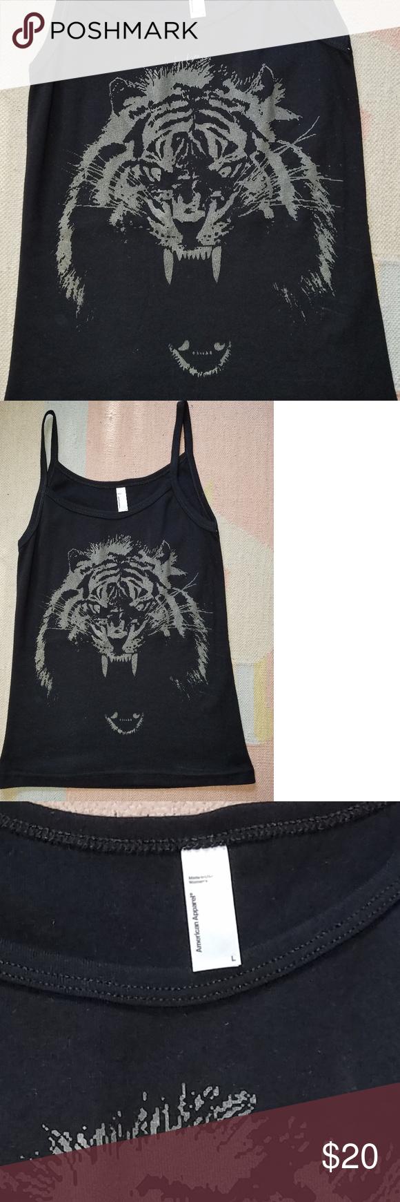 0432a3344e8c64 Glow in the dark tiger tank! Original tiger artwork silk-screened in glow  in the dark ink! Limited edition