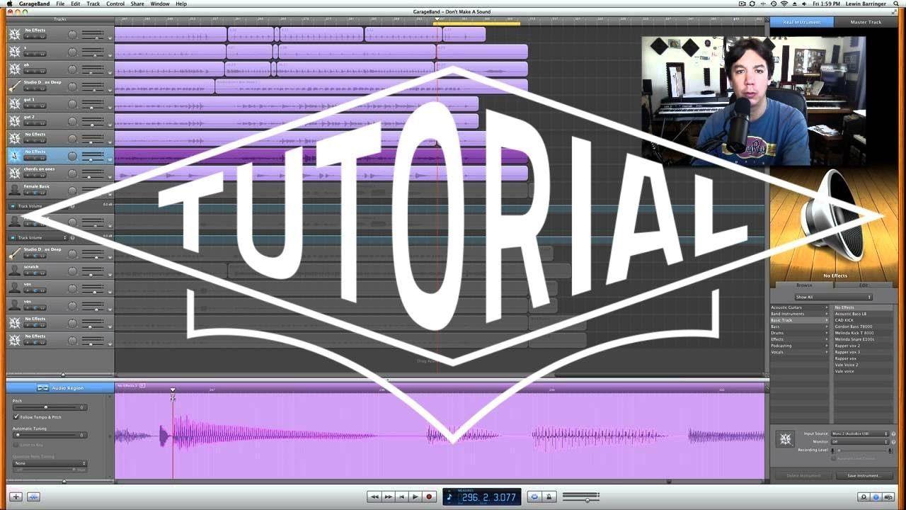 Garageband Tutorial advanced editing Flex time editing