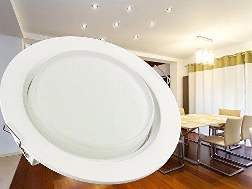 ifttt/1J9pzDe LED Einbau-Leuchten Set flach 10 Stück Decken - led leuchten wohnzimmer