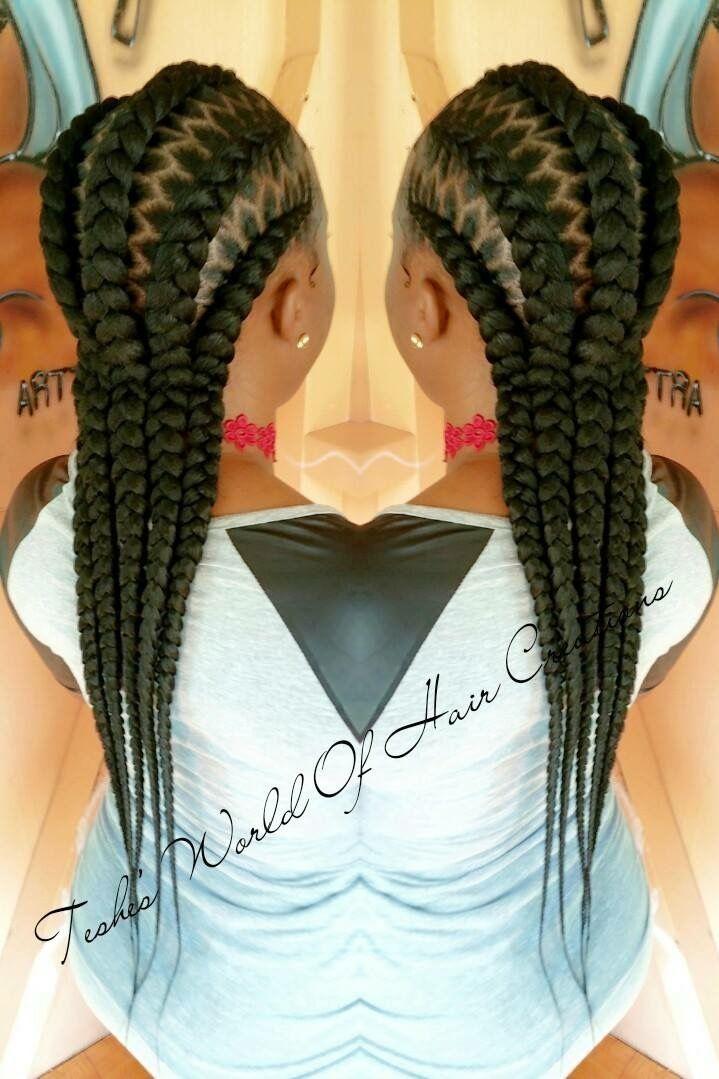 braid cornrow stitch braiding teshesworldofhaircreations