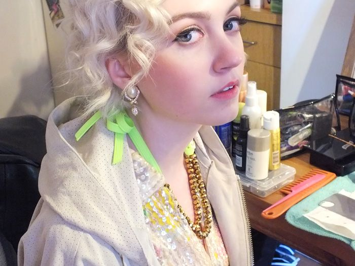Pastel pink yellow + rhinestones! Behind the scenes models + team for spring 2013 editorial. See more at http://heymishka.com/2013/01/25/behind-the-scenes-spring-editorial/